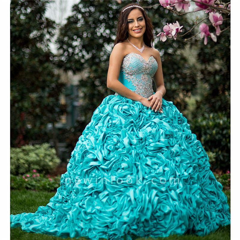 Exquisite Sweetheart Beadings Ball Gown Quinceanera Dresses | Pick-Up Sweet 16 Dresses Long
