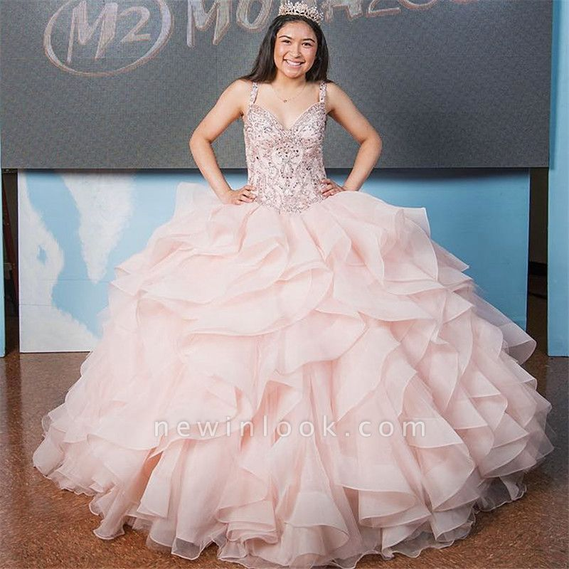 Marvelous V-neck Ball-Gown Beadings Sweet 16 Dresses | Quinceanera Dresses Long