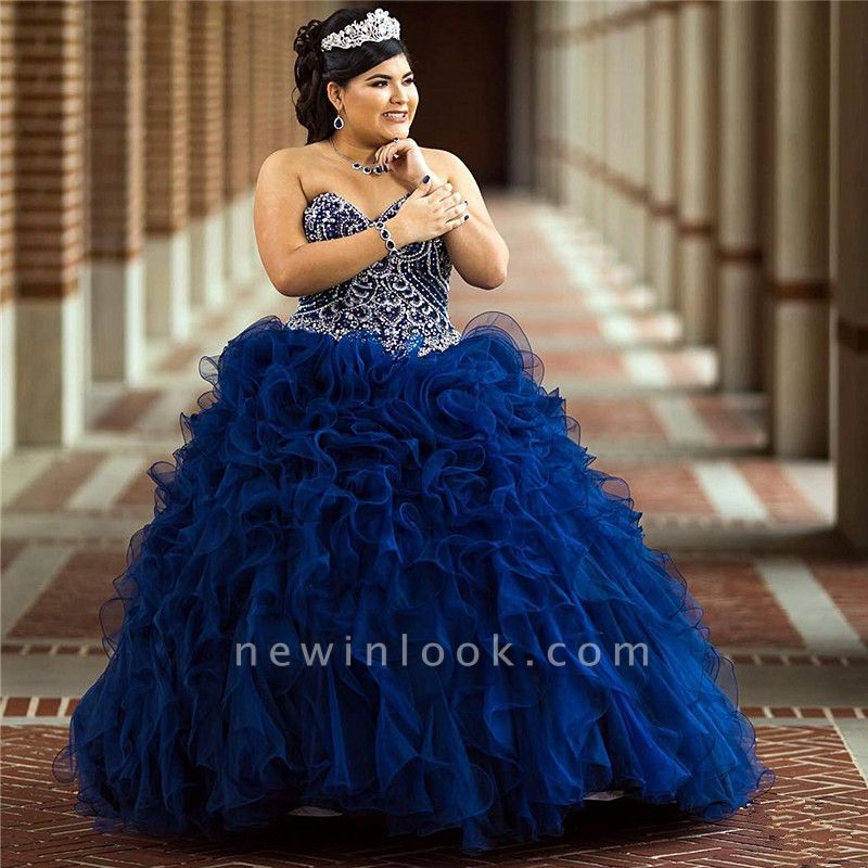 Wonderful Sweetheart Beadings Ball Gown 15 Dresses | Sleeveless Ruffles Quinceanera Dresses Long