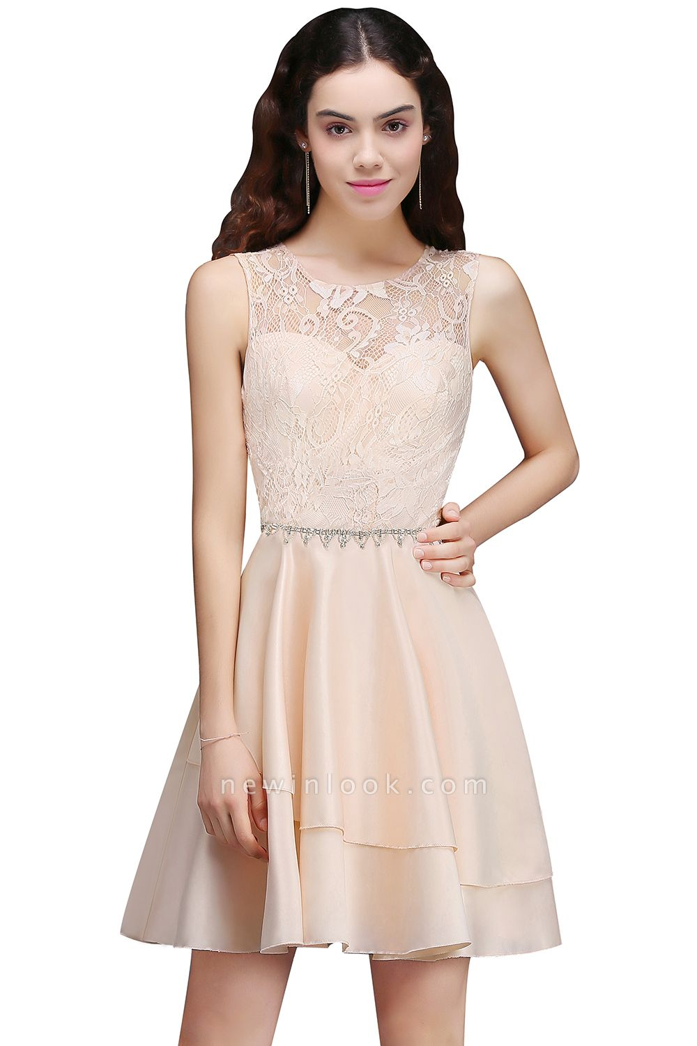 ANNABELLE | Quinceanera Short Cute 15 Dama Dress With Lace