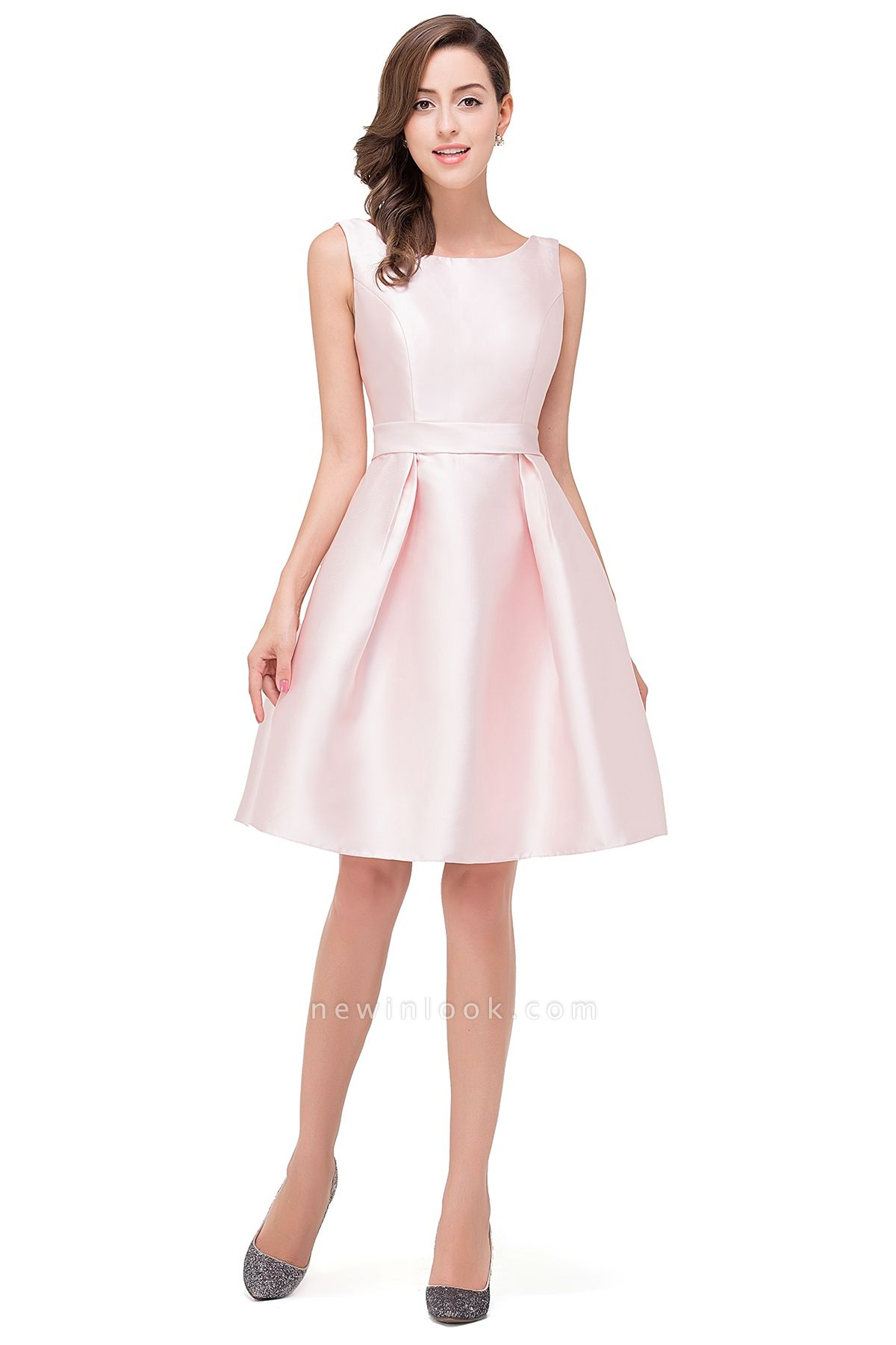 EMERSON | Quinceanera Sleeveless Knee Length Sleeveless Dama Dresses