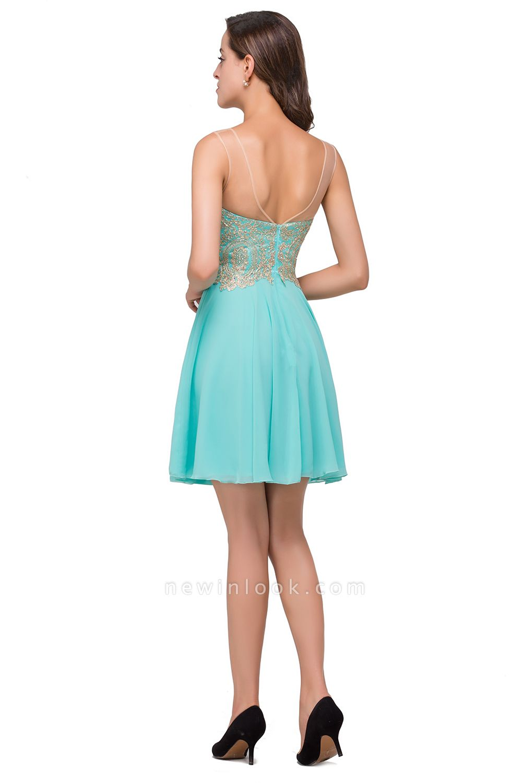FANCY | Appliques Elegant Short Sleeveless Chiffon Quince Dama Dresses