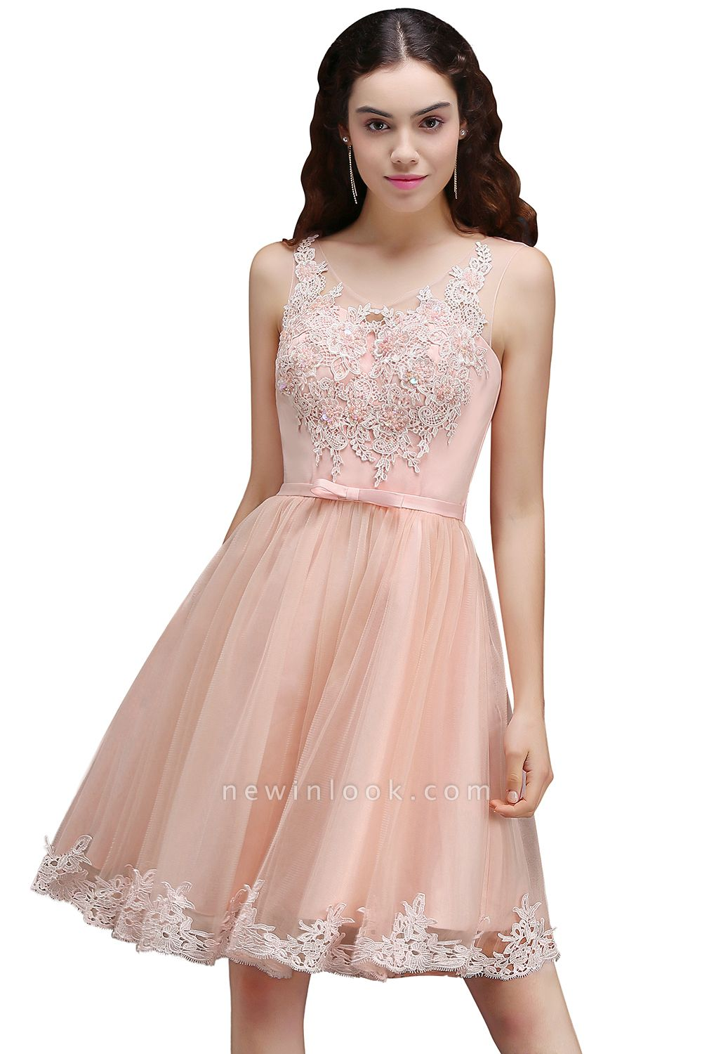 ANIYAH | Quinceanera Short Cute 15 Dama Dress With Lace