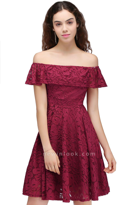 vestidos de fiesta de borgo_a | Una línea de encaje fuera del hombro de encaje