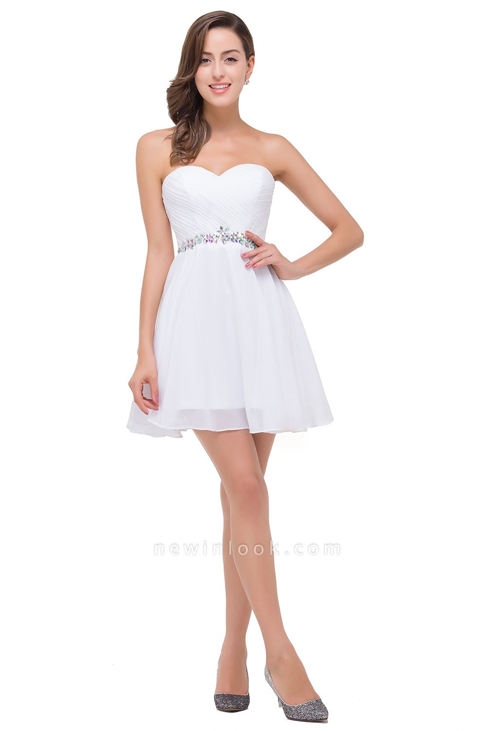 EMILEE | Quinceanera Sweetheart Short Dama Dresses with Beadings