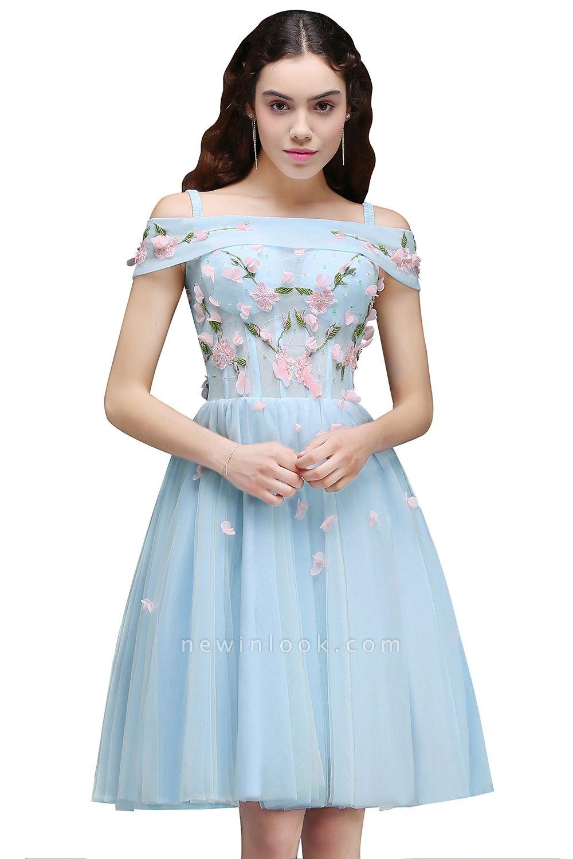 ANGELINE | Quinceanera Short Cute Quince Dama Dress Flowers
