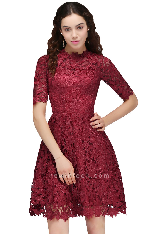A-Linea Vestidos de Fiesta corte | Lace Borgo_a cuello redondo