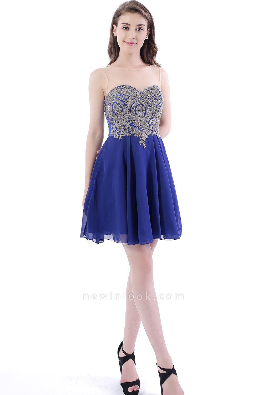 DAISY | Short Jewel Lace Chiffon Applique Quince Dama Dresses