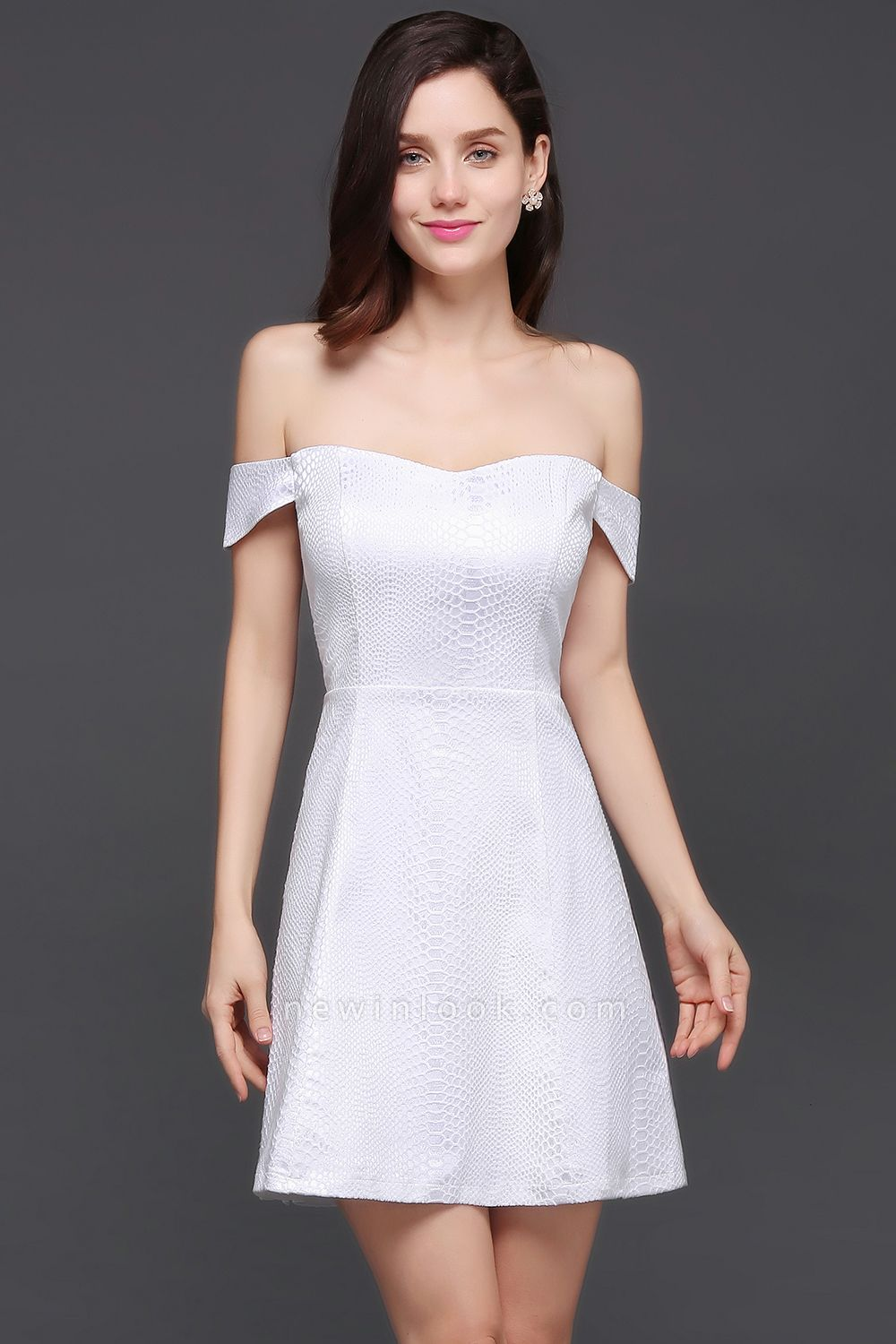 CIARA | Quinceanera Off-the-shoulder White In-stock Prom Dress