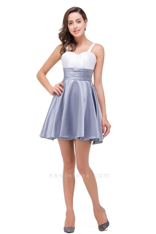 EVANGELINE | Quinceanera Sleeveless Sweetheart Short Chiffon Dama Dresses