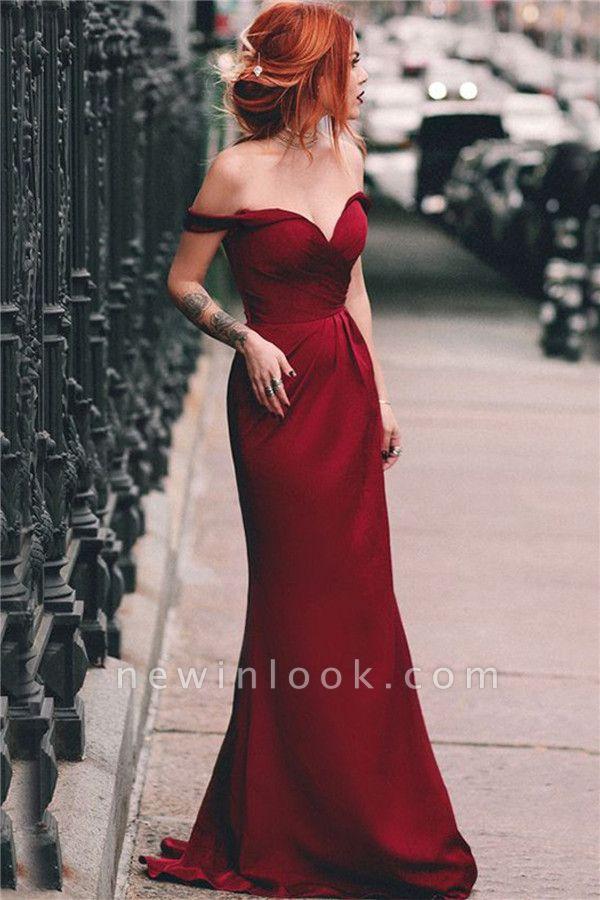 Fuera del hombro vestido de noche atractivo de Borgo_a | Sirena baratos vestidos formales 2019