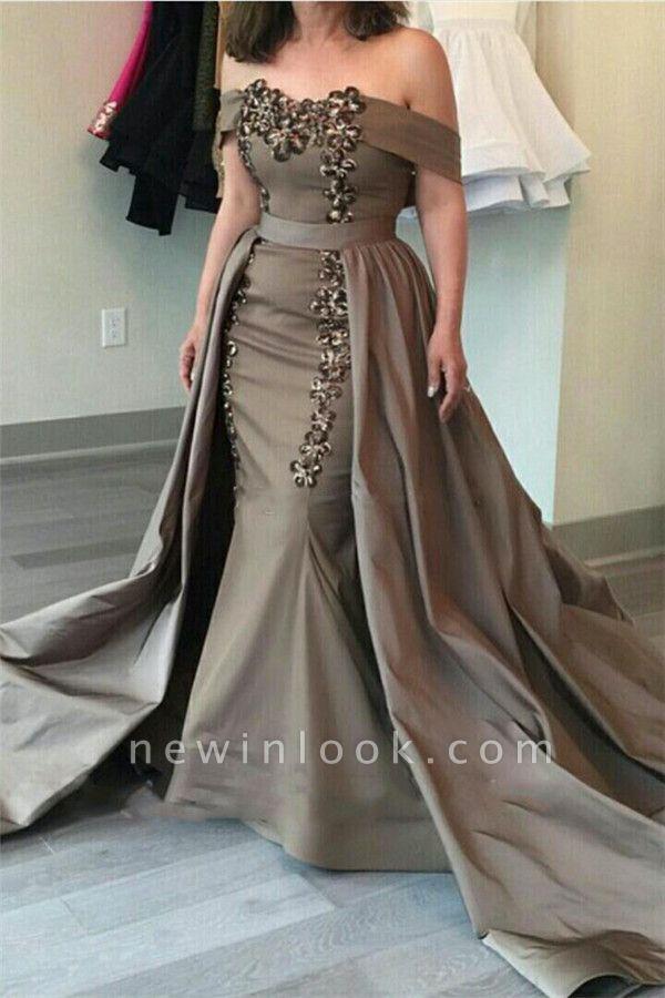 Glamorosa fuera del hombro vaina vestidos de noche largos | Appliques Falda baratos vestidos formales 2019
