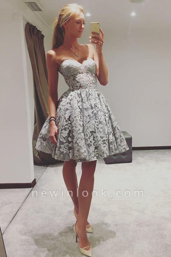 Cariño elegante vestidos de fiesta | Una línea de vestidos de cóctel sin mangas