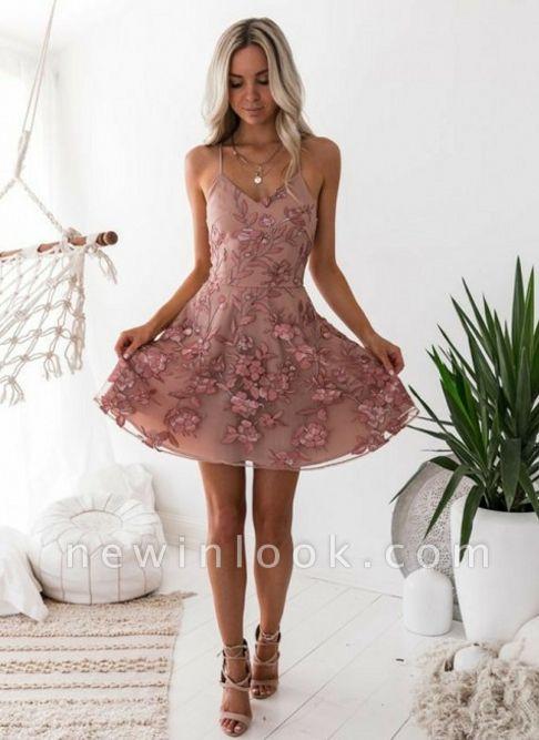 Classic Pink Floral Dama Dresses Spaghetti Straps Lace Appliques XV Dama Dresses