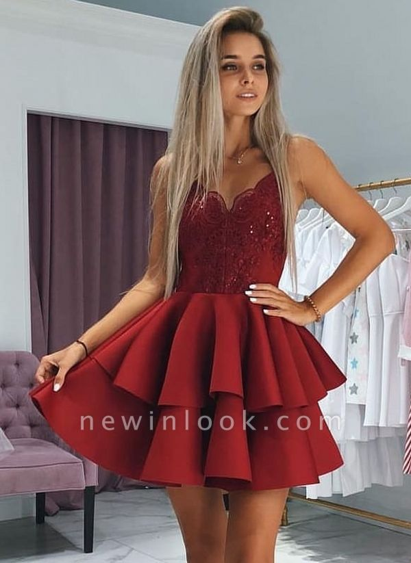 Classic Layers Dama Dresses Spaghetti Straps Lace XV Dama Dresses with Appliques