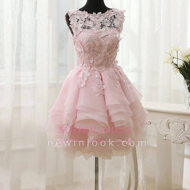 Sleeveless Cute Short Flowers Straps Ruffles Dama Dress