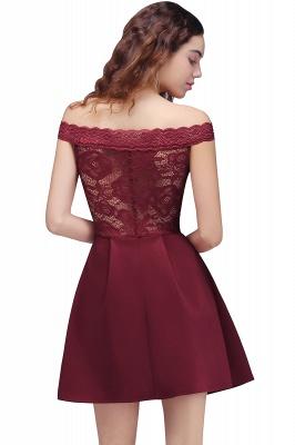 BROOKLYN | Quinceanera Off-the-shoulder Short Lace Burgundy Dama Dresses_3