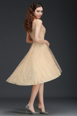 ANNABELLA | Quinceanera Hi-Lo Popular 15 Dama Dress With Pearls_7