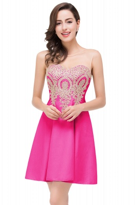 ESTHER | Quinceanera Sleeveless Chiffon Short Dama Dresses with Appliques_2