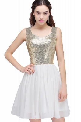 CAROLYN | Quinceanera Scoop Short Sequins White Cute Dama Dresses with Sequins_6