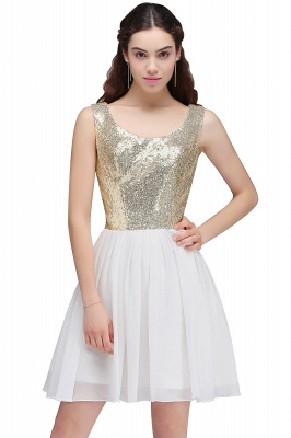 CAROLYN | Quinceanera Scoop Short Sequins White Cute Dama Dresses with Sequins_7