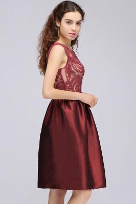 CATALEYA | Quinceanera Jewel Short Taffeta Burgundy Sheer Dama Dresses_5