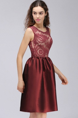 CATALEYA | Quinceanera Jewel Short Taffeta Burgundy Sheer Dama Dresses_4