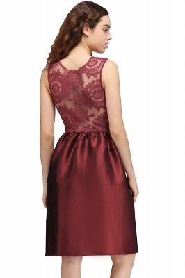CATALEYA | Quinceanera Jewel Short Taffeta Burgundy Sheer Dama Dresses_3