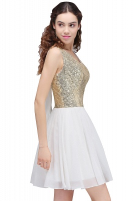 CAROLYN | Quinceanera Scoop Short Sequins White Cute Dama Dresses with Sequins_4