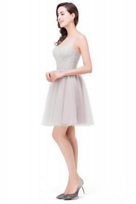 HARLOW | Elegant Quinceanera Crew Mini Silver Dama Dresses With Ruffle_6