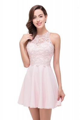 HARMONI   Cute Quinceanera Crew Mini Dama Dresses With Applique_6