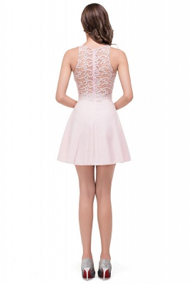 HARMONI   Cute Quinceanera Crew Mini Dama Dresses With Applique_8