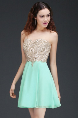 ALIANNA | Sheath Jewel Chiffon Short 15 Quince Dresses With Applique_3