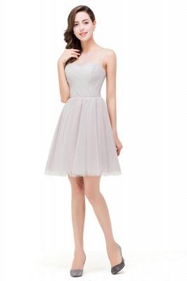 HARLOW | Elegant Quinceanera Crew Mini Silver Dama Dresses With Ruffle_5