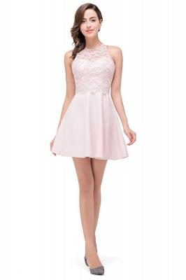 HARMONI   Cute Quinceanera Crew Mini Dama Dresses With Applique_1