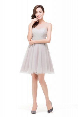HARLOW | Elegant Quinceanera Crew Mini Silver Dama Dresses With Ruffle_7