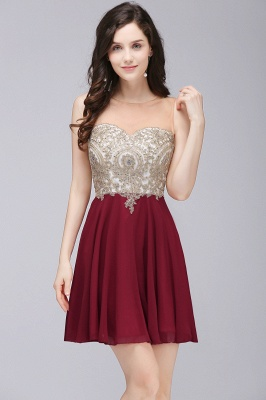 ALIANNA | Sheath Jewel Chiffon Short 15 Quince Dresses With Applique_1