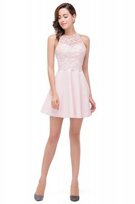 HARMONI   Cute Quinceanera Crew Mini Dama Dresses With Applique_5