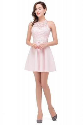 HARMONI   Cute Quinceanera Crew Mini Dama Dresses With Applique_3