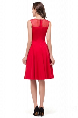 HARMONY | Quinceanera Crew Knee-length Red Dama Dresses_8