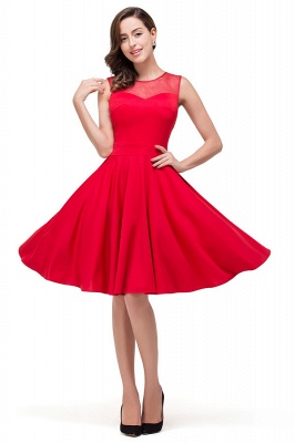 HARMONY | Quinceanera Crew Knee-length Red Dama Dresses_5