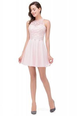 HARMONI   Cute Quinceanera Crew Mini Dama Dresses With Applique_4