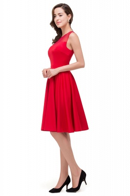 HARMONY | Quinceanera Crew Knee-length Red Dama Dresses_7