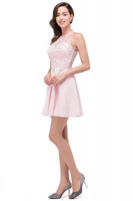 HARMONI   Cute Quinceanera Crew Mini Dama Dresses With Applique_7