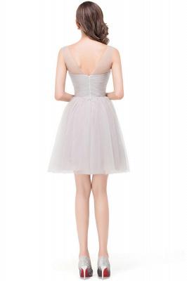 HARLOW | Elegant Quinceanera Crew Mini Silver Dama Dresses With Ruffle_8