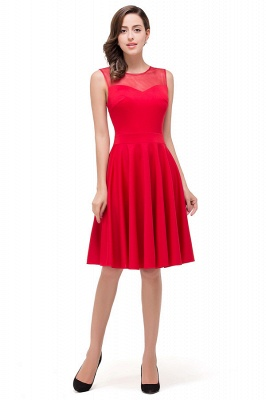 HARMONY | Quinceanera Crew Knee-length Red Dama Dresses_3