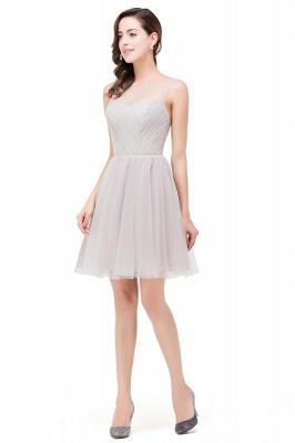 HARLOW | Elegant Quinceanera Crew Mini Silver Dama Dresses With Ruffle_4
