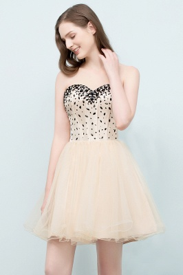 SIBYL | Quinceanera Short Sweetheart Strapless Tulle Dama Dresses with Crystals_6