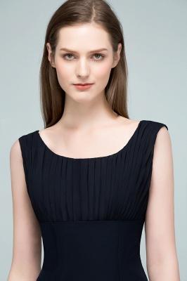 SUZANNE | Quinceanera Tea Length Sleeveless Ruffled Chiffon Dama Dresses_6