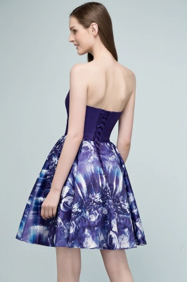 RICARDA | Quinceanera Strapless Sweetheart Short Print Dama Dresses_3